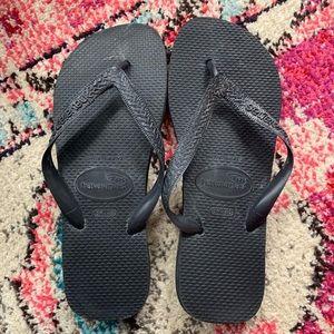 Havaianas Black Sandals Size 8